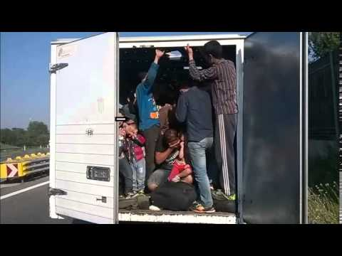 86 Migrants Found Packed Inside Truck on Highway in Austria(VIDEO)