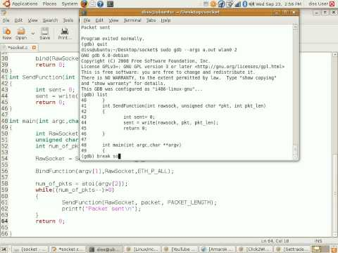 How to use debugger in linux by using gdb function