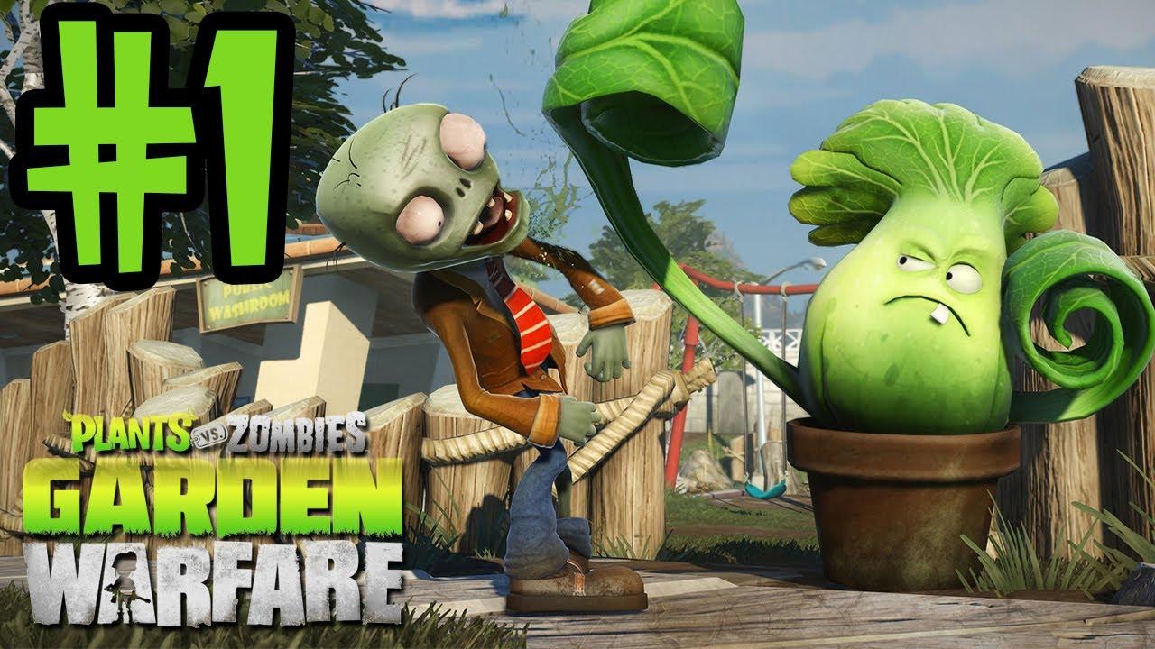 Plants Vs Zombies Garden Warfare Walkthrough Part 1 Gardens Graveyards Xbox One Gameplay