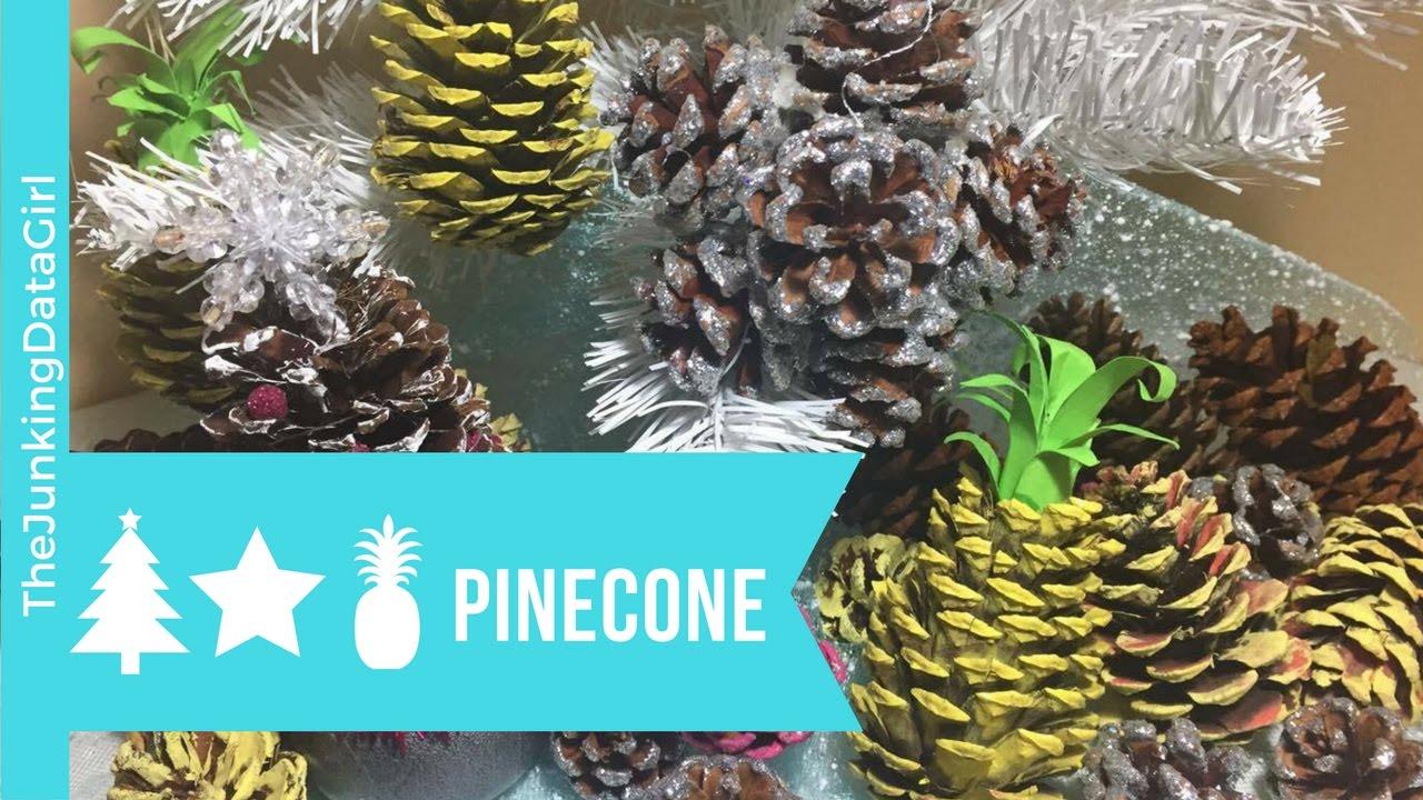 3 diy pinecone christmas ornaments pineapple pinecone pinecone star 3 diy pinecone christmas ornaments pineapple pinecone pinecone star and a pinecone christmas tree solutioingenieria Images