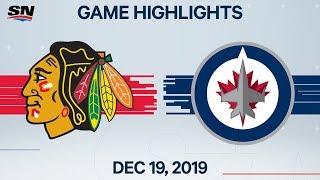 NHL Highlights   Blackhawks vs Jets - Dec. 19, 2019