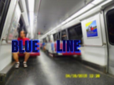 WMATA Metrorail: Blue Line (BL) to Franconia-Springfield... FULL RIDE!