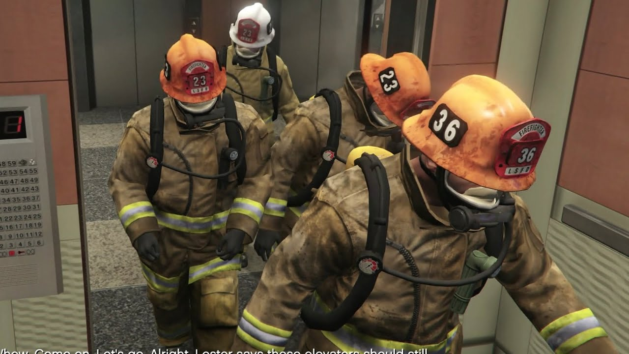 Grand theft auto v fire crew first person mode youtube for Bureau raid crew