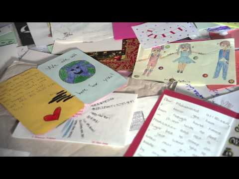 Children's notes to UAE prisoner of conscience Dr Mohammed al-Roken