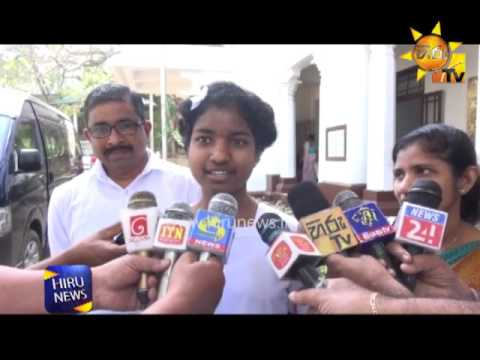 Student who came second at GCE O/L talks to the media