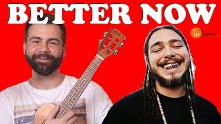 Better Now - Post Malone - Easy Ukulele Tutorial With Play-along