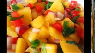 Fresh Mango Salad Recipe  Salsa Style