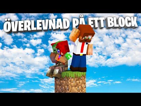 ÖVERLEVNAD PÅ ETT BLOCK! - Med @Kimmy POWER