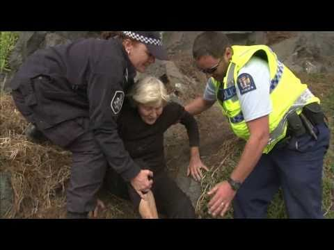 Elderly Chch woman helped down cliff after quake hits Chch