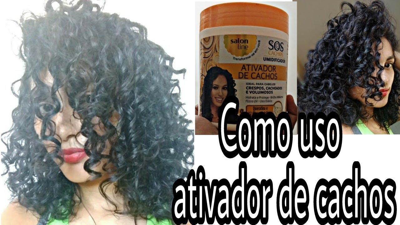 a68319b9a Ativador de Cachos Salon Line - SOS cachos Umidificador - YouTube