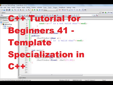 C++ Tutorial for Beginners 41 - Template Specialization in C++