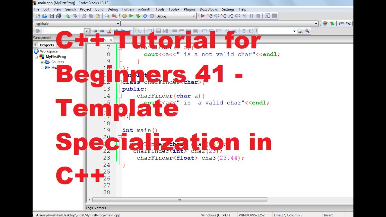 C tutorial for beginners 41 template specialization in c c tutorial for beginners 41 template specialization in c pronofoot35fo Gallery