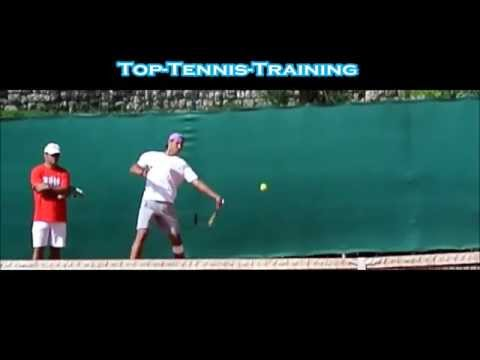 Rafael Nadal Forehands Slow Motion Front View Youtube