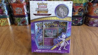 Mewtwo Shining Legends Pin Collection Box Opening