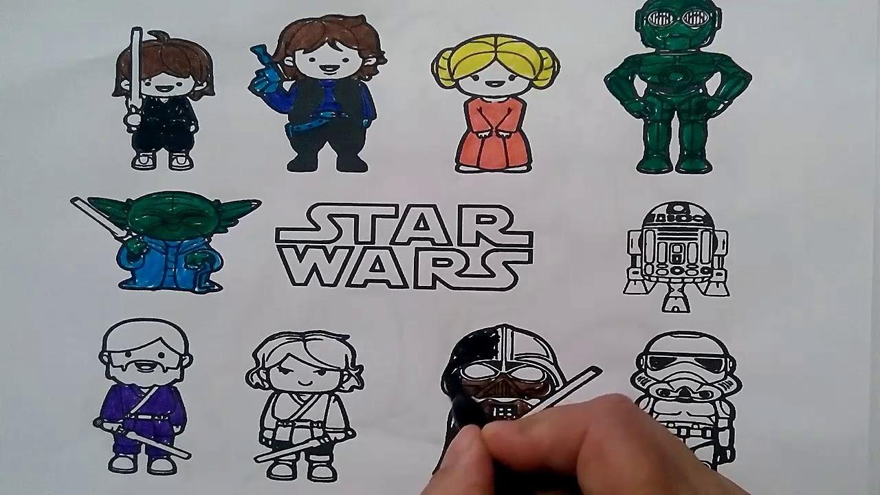 Star Wars Boyama çiz Ve Boya Youtube