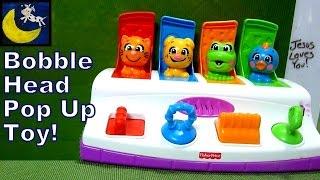 Фішер-ціна Bobble & хихикають тварин поп (Кращий поп вгору іграшка для малюків!)
