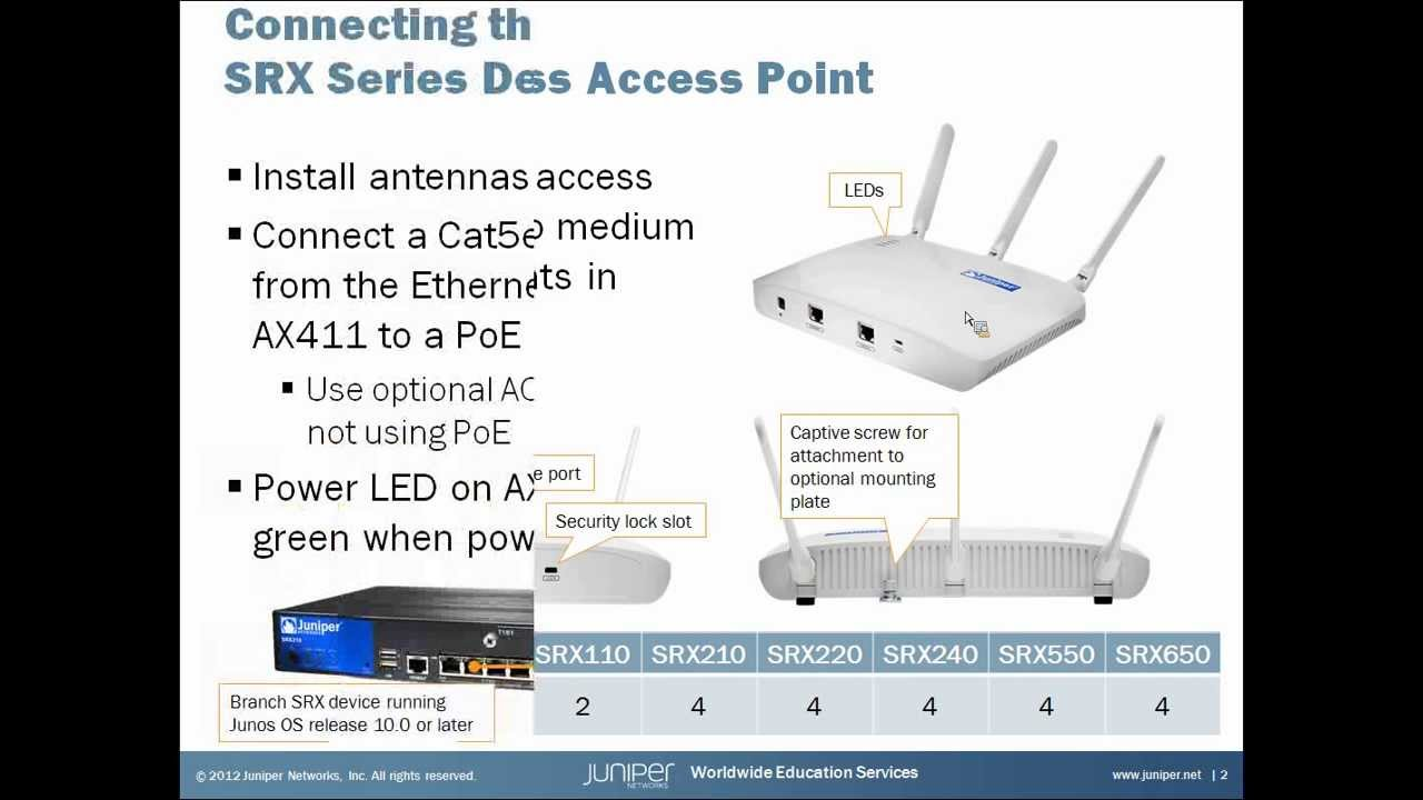 Branch Srx Series Ax411 Access Point Setup And Installation