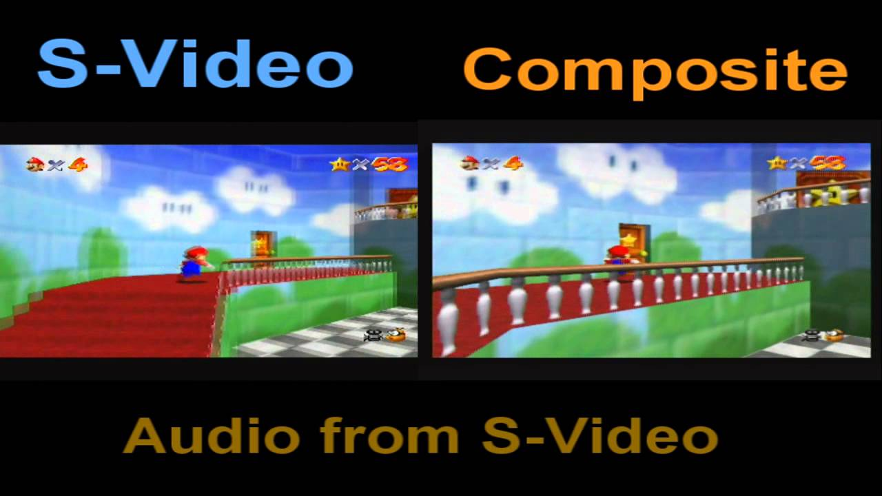 S Video Vs Composite Nintendo 64 Youtube
