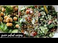 Three Green Salad Recipes (Candida diet/Plant-based)