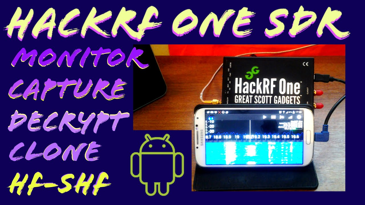 Testing HackRF & RF Analyzer app on Android [Software Defined Radio]