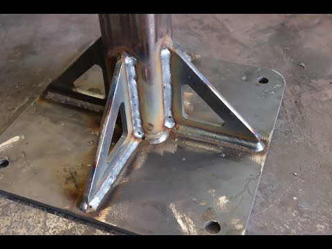 BELT GRINDER STAND FABRICATION, PULSE MIG WELDED AND CNC PLA