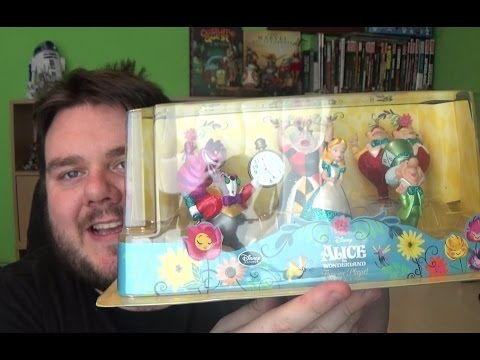 Alice in Wonderland Glitter Figurine Play Set Disney Store Exclusive Unboxing Toy Review