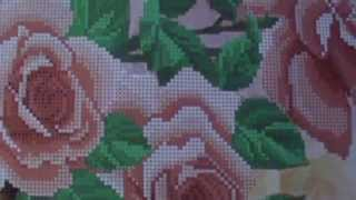 Вышивка бисером. Обзор набора для вышивки бисером Розовый сад