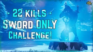 22 KILLS INFINITY SWORD ONLY CHALLENGE! Pro Soccer Skin Fail! Fortnite Battle Royale