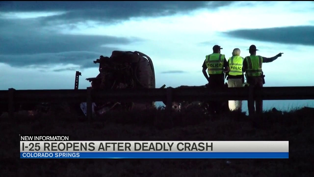 I-25 reopened following fatal crash south of Colorado Springs