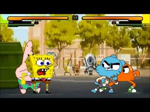 M.U.G.E.N Battle: Spongebob & Patrick vs. Gumball & Darwin Watterson