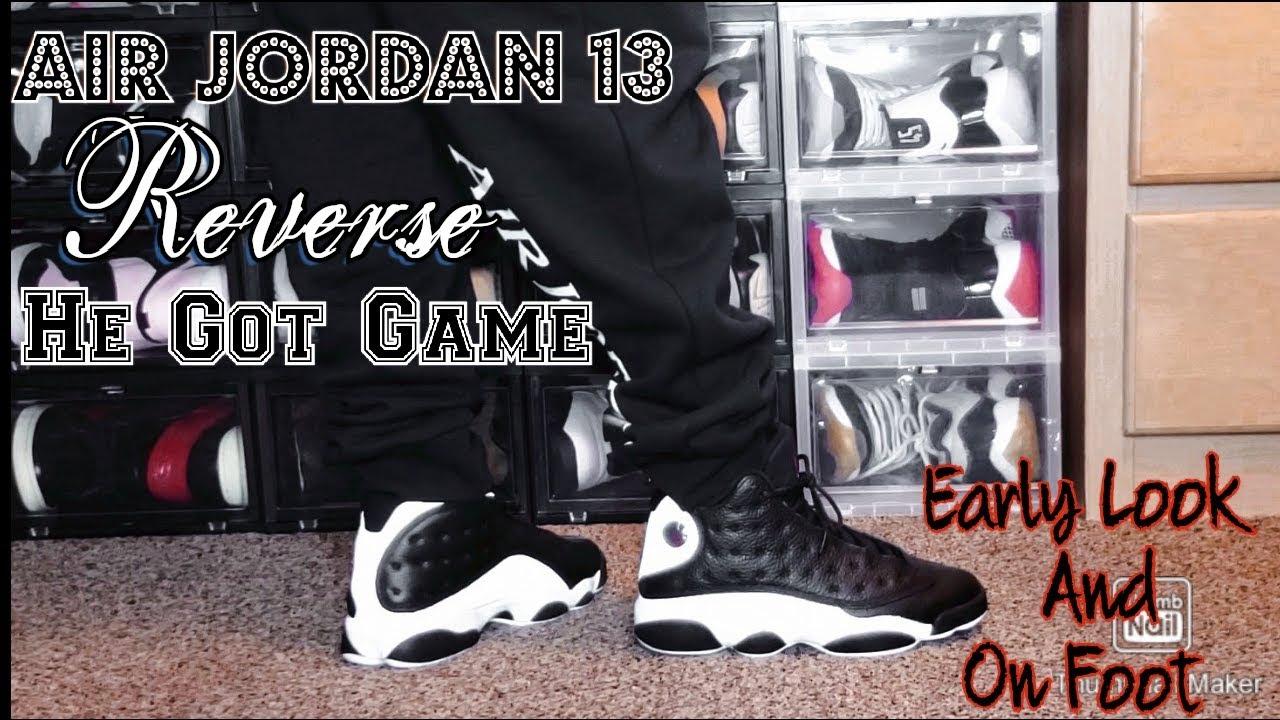 Air Jordan 13 Reverse He Got Game Early Look On Foot Youtube