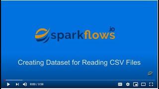 Create Dataset for reading CSV Files