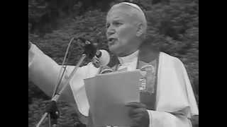 Jan Paweł II 1987r  Westerplatte cz4.  spotkanie z młodzieżą   homilia