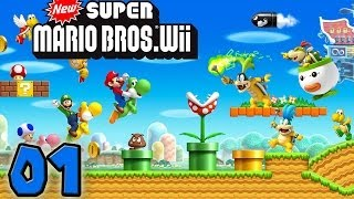Let's Play New Super Mario Bros Wii #001 - Peach Und Der Haarige Kuchen