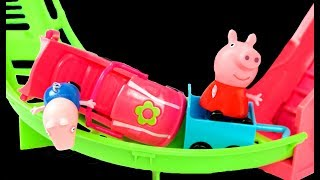 Peppa Pig English Episodes Fun Holiday day out! Roller Coaster  & Swimming Pool