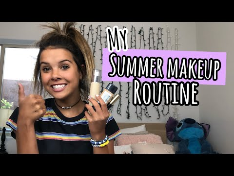 my EASY glowy SUMMER MAKEUP ROUTiNE! thumbnail