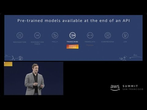 AWS Summit San Francisco 2018 - Amazon Transcribe Now Generally Available