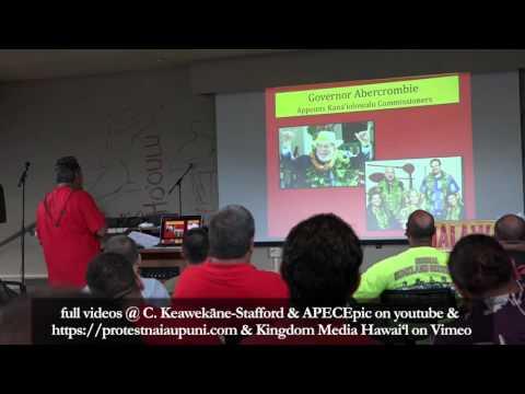 Andre Perez with a History and Analysis of Na'i Aupuni @ the HĀLĀWAI Aloha ʻĀina