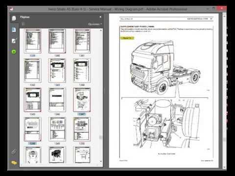 iveco stralis as euro 4/5  service manual  wiring diagram