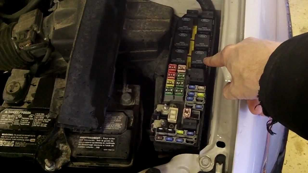 02 Mercury Sable Fuse Box How To Change A Fuel Filter In A Ford Escape Youtube