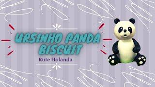 Urso Panda em Biscuit como fazer | Bolo Fake Urso Panda em Biscuit