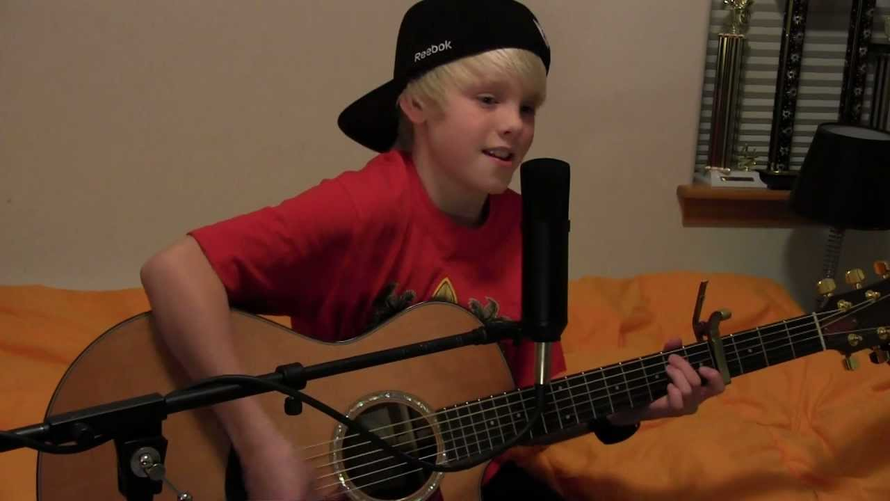 Rocketship — Shane Harper acoustic cover by 10 yr old Carson