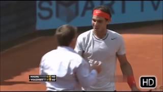 Angry Rafael Nadal vs Umpires