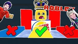 Roblox: DO NOT CHOOSE THE FALSCHEN BURGER KING WAY! Kaan + Nina in the Burger King Escape Obby