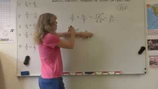 Year 7,8,9 How to add, subtract, multiply and divide fractions
