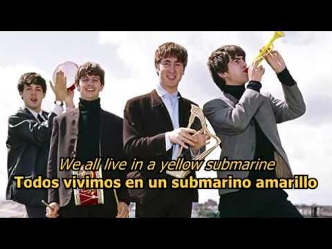 Yellow Submarine - The Beatles (LYRICS/LETRA) [Original]