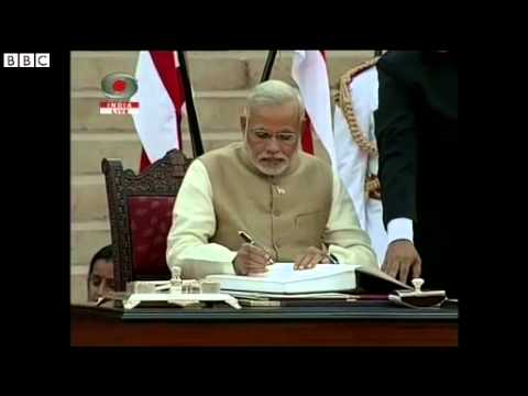 'Electric' atmosphere as Narendra Modi sworn in as India PM