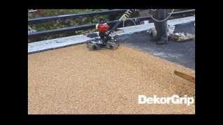 DekorBound installed with the aide of a HoverTrowel