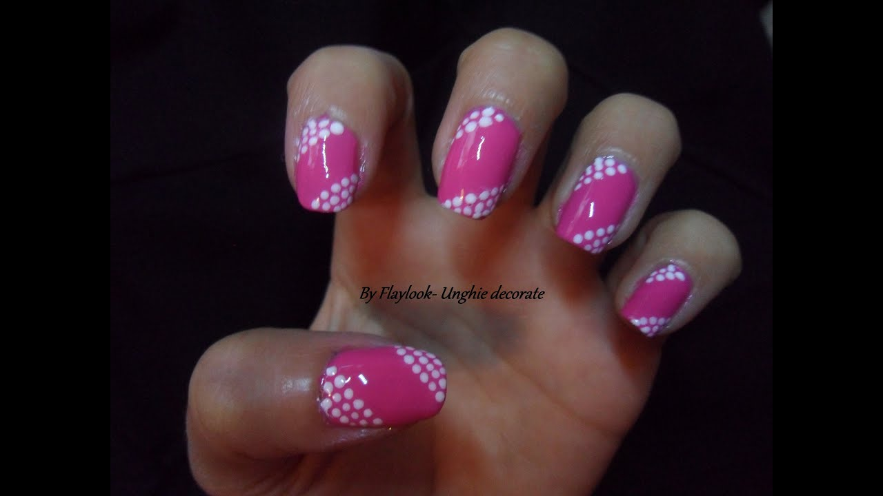Molto Video tutorial #12 Nail art con smalto fuxia e puntini bianchi  WK94