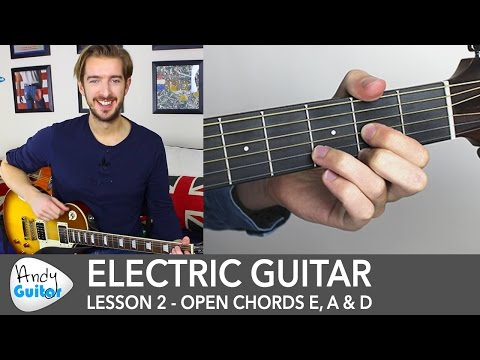 Electric Guitar Lesson 2 - EASY Riff with Open Chords